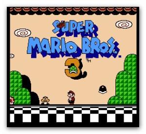 tampilan depan game mario bros